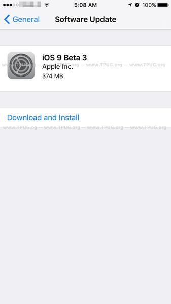 iOS9B3-OTA